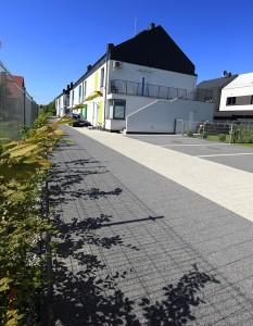Complex szary grafitowy plukany Obrzeze trawnikowe grafitowy gladki 1