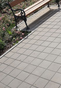 kwadrat szary gladki z-faza obrzeze trawnikowe szary gladki